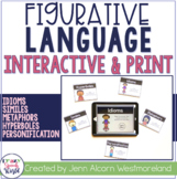 Figurative Language Interactive & Print Task Cards - Dista
