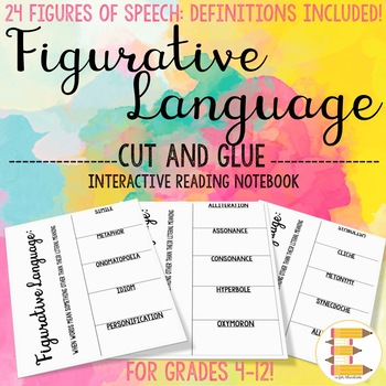 Figurative Language Interactive Reading Notebook: 24 Figures of Speech with Def!