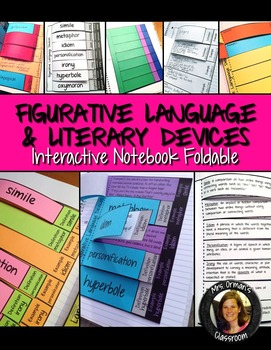Figurative Language Interactive Reading Notebook Activity