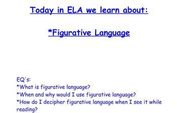Figurative Language Interactive Smartboard Unit