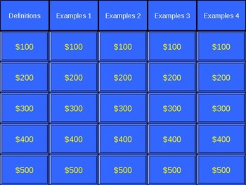 Figurative Language Jeopardy!