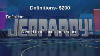 Figurative Language Jeopardy