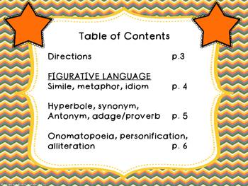 Figurative Language Key Ring