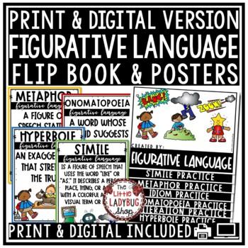 Figurative Language Flip Book & Figurative Language Activities 4th Grade & More