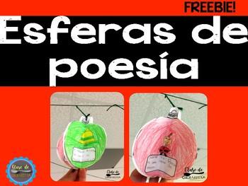 FREEBIE: Figurative Language Ornament/ Lenguaje Figurado Esfera