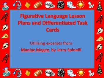 Figurative Language Lesson Plans and Differentiated Task Cards