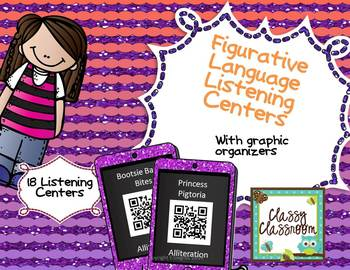 Figurative Language Listening Center QR Codes with Graphic
