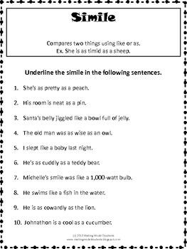 Figurative Language Literacy Skills Pack