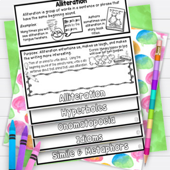 Figurative Language Posters Activities Worksheets Flipbook RL3.4 RL4.4 RL5.4