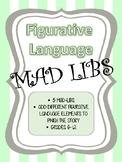 Figurative Language Mad Libs