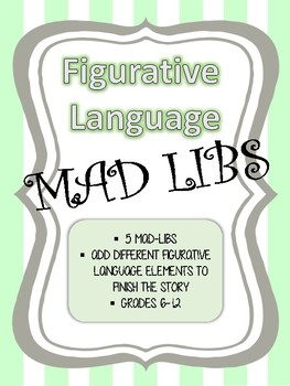 figurative language mad libs figurative language mad libs