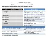 Figurative Language Match Worksheet