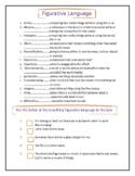 Figurative Language Matching Digital Worksheet