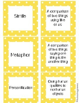 Figurative Language Matching and Task Cards