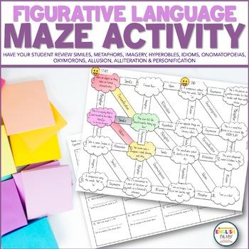 Figurative Language, Maze, Worksheet