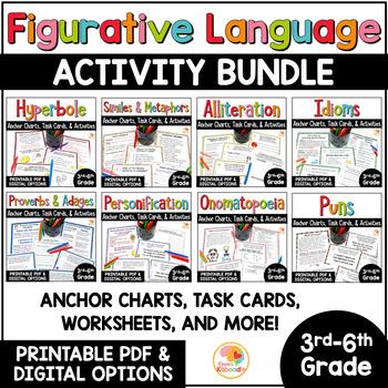 Figurative Language Activities and Task Cards Mega Bundle