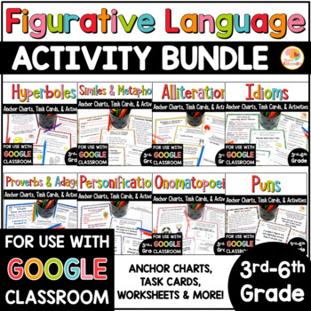 Figurative Language Activities and Task Cards Bundle