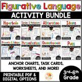 Figurative Language Distance Learning   Figurative Language Worksheets BUNDLE