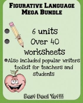 Figurative Language Mega Bundle 4th-8th (6 Units Plus More) 40+ Worksheets