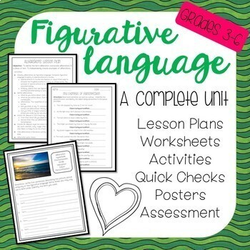 Figurative Language **Mega Bundle** Lesson Plans, Games, Quick Checks & More