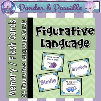 Figurative Language Memory Cards ~ Similes, Metaphors and more!