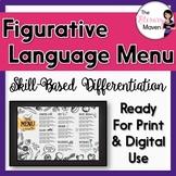 Figurative Language Menu of Differentiated Activities Base
