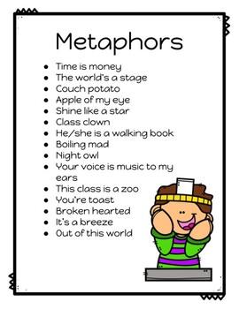 Figurative Language: Metaphor Headband Game