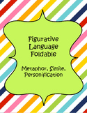 Figurative Language: Metaphor, Simile, and Personification Foldable