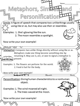 Figurative Language: Metaphors, Similes, and Personification