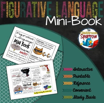 Figurative Language Mini-Book (A Perfect Addition to an Interactive Notebook)