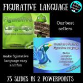 Figurative Language Mini Bundle PowerPoint - Test Prep - Worksheet