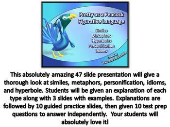 Figurative Language Mini Bundle PowerPoint - Test Prep - Worksheet