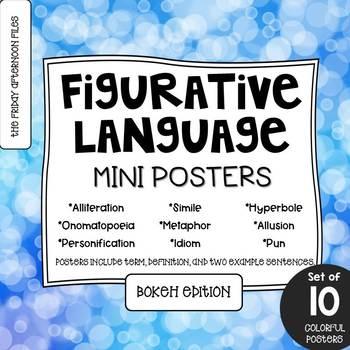 Figurative Language Posters: Bokeh Edition