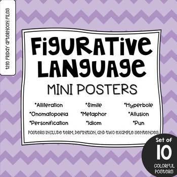 Figurative Language Posters: Pastel Edition
