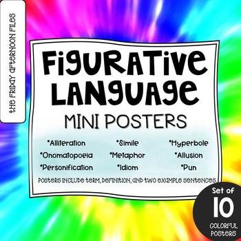 Figurative Language Posters: Tie-Dye Edition