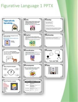 Editable Figurative Language Two Week Mini lesson