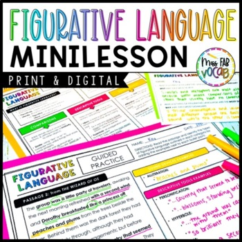 Figurative Language Minilessson: Notes and Practice for Middle & High School
