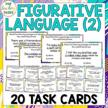 Figurative Language Multi-Choice Task Cards (US and NZ)