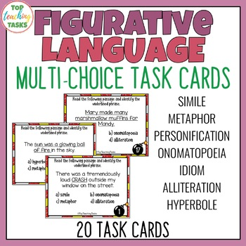 Figurative Language Multi-Choice Task Cards
