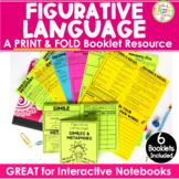 Figurative Language Activities No Cut, Print & Fold Interactive Notebook Booklet