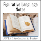 Figurative Language Notes - AP Lit & Advanced Poetry