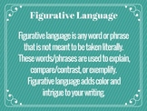 Figurative Language Notes & Posters