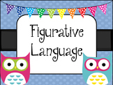 Figurative Language -OWL Theme- Posters