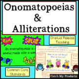 Figurative Language : Onomatopoeia & Alliteration for Promethean Board