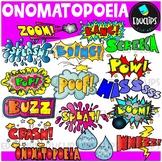 Figurative Language - Onomatopoeia Clip Art Set {Educlips Clipart}