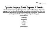 Figurative Language Organizer & Examples