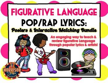 Figurative Language POP SONGS and RAP LYRICS BUNDLE!