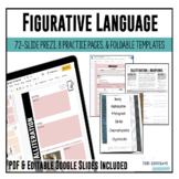 Figurative Language Unit: Prezi, Flip Book, and Worksheets
