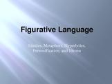 Figurative Language PPT- Similes, Metaphors, Personification, Hyperboles, Idioms