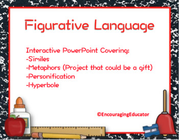 Figurative Language PPT and Activities